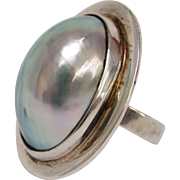 Osmena Nautilus Pearl Sterling Silver Ring by Gunn Trigere