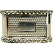 English Sterling Silver Engine Turned Napkin Ring by Mappin & Webb Ltd (1957)