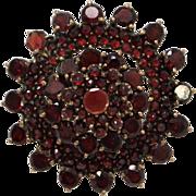 Bohemian Star Cluster Garnet Gemstone Brooch
