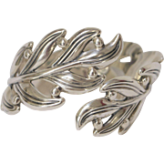 Margot de Taxco Sterling Silver Leaf Bracelet