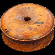 Russian Beechwood Burl Wood Donut Shaped Box