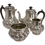 Francis Boone Thomas English Sterling Silver Coffee and Tea Service 4 Piece Set