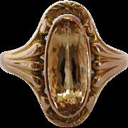 1890's Citrine 14K Gold Ring