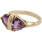 Vintage Amethyst Gemstone 14K Gold Ring