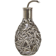Chinese Sterling Silver Export Bamboo Pattern Bottle