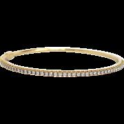 18K Gold Tiffany Metro Diamond Bangle with Box