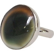 Antique Operculum Sterling Silver Ring