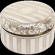 Charming  Sterling Silver Pill Box