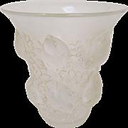"""R. Lalique """"Saint Francois"""" Frosted Glass Vase, circa 1930"""
