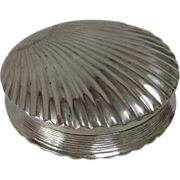 SOLD Dutch Silver (833) Shell-Shaped Pill Box, 1833