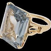 14kt Gold Naturally Light Blue 14ct Topaz Ring
