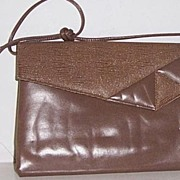 SALE Brown Envelope Style Clutch Shoulder Bag Mint!