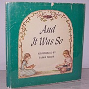 "SALE Tasha Tudor  ""And It Was So"" 1st Edition!"