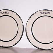 SALE 2 Borels Homer Laughlin China Dinner Plates FREE SHIP