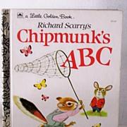 SALE Chipmunk's ABC by Richard Scarry Mint!