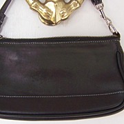SOLD Coach Black Leather Demi Hobo Handbag