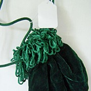 SALE Green Velvet Purse Pouch Victoria's Secret ~ Mint!