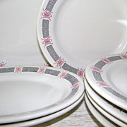 SALE 25 Pcs Platter Dinner Plates Rice Bowls Bouillon Cups Chinese Restaurant Ware China