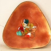 SALE Abstract Enamel on Copper Tray
