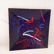 SALE Abstract Enamel On Metal Tray Modern / Mid Century