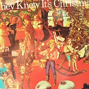 SALE Do They Know It's Christmas Sting Paul McCartney Phil Collins  45 mint record