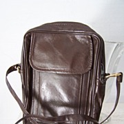 SALE Brown Leather Unisex Shoulder Cross Body Bag Mint!