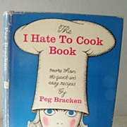 "SALE 1st Edition SIGNED by author ""I Hate To Cook Cook Book"""