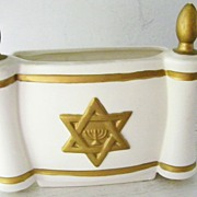 SALE Leftons Star of David / Menorah planter / vase