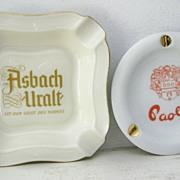 SALE Rosenthal Adv. Ashtray Thomas Marktredwitz,Germany & Paoli's Ashtray