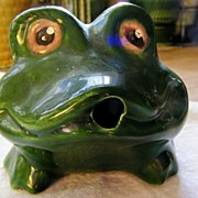 SALE Frog Fountain Pond Pool Spitter Mint Vintage California Pottery