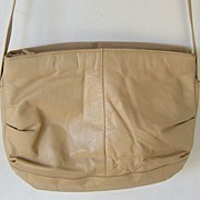 SALE #215 Tan Leather Shoulder Bag purse
