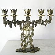 SALE K.L. Israeli Candelabra / Menorah Style