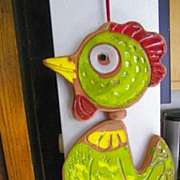 SOLD vintage Pacific Stoneware Wind Chimes Bird mint condition