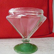 SALE Octagonal Glass Vase / Pedestal Candy Dish