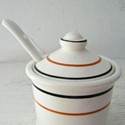SALE Restaurant Ware Mustard Pot Circa the Thirties