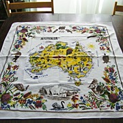 "SALE Vintage Australian Tablecloth 31"" x 33"""