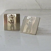 SALE Swank Unusual Unique Cuff Links lamplighter