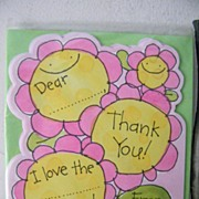 SALE Vintage Children's Thank You Cards