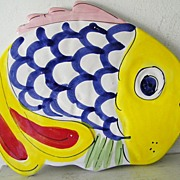 SALE La Musa Handpainted Ceramic Fish made in Italy