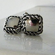 SOLD Swank Silvertone Cufflinks  Nautical