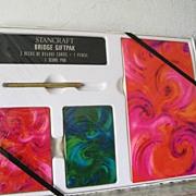 """SALE Vintage """"brand new""""  Bridge Set in original packaging"""