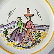 SALE Vernon Kilns Gale Turnbull Plate * Artist signed * 1937