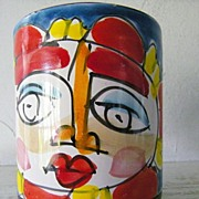 SALE Italian Hand Painted Mug Circa 1960s