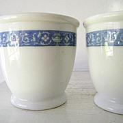 SALE 1938 Hendrick Hudson Hotel Custard Cups * Blue *