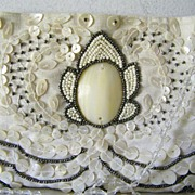 SALE Moyna beaded Bridal Purse Evening Shoulder Bag Mint!