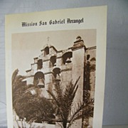SALE San Gabriel Mission booklet   California
