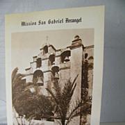 SALE San Gabriel Mission booklet   California