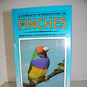 SALE Finches Hardback book Full Color