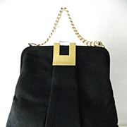 SALE Black Wool Felt Handbag by G. D. K.