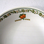 SALE 7 Vintage Southern Pacific Railroad China Golden State Bowls